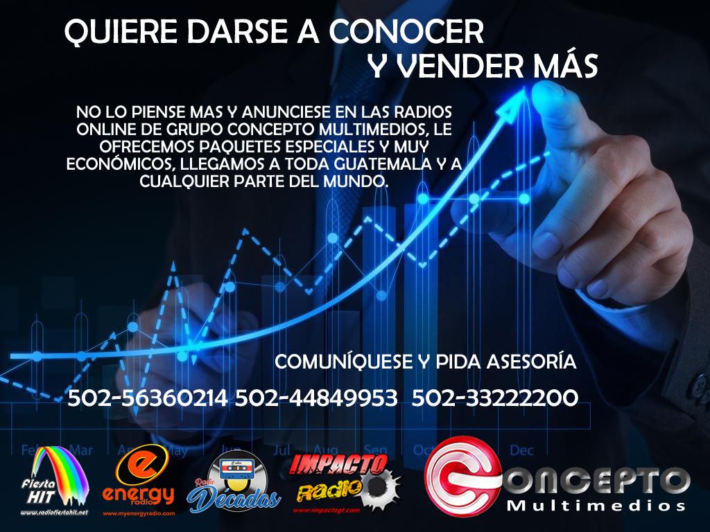 ANUNCIATE EN LAS RADIOS DE GRUPO CONCEPTO MULTIMEDIOS